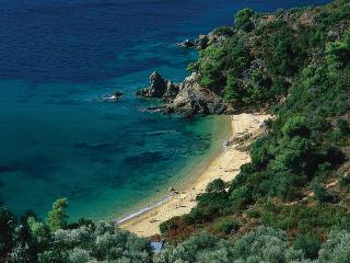 Diamandi beach accessed directly through property.