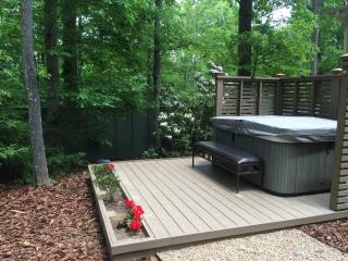 Hot tub with private fencing