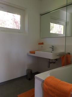 newly renovated bathroom (with shower-bathtub combination) - toilet extra room