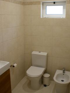 Master en-suite has a separate toilet