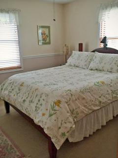 Master Bedroom has a queen size pillow top mattress, bath and dressing room attached.