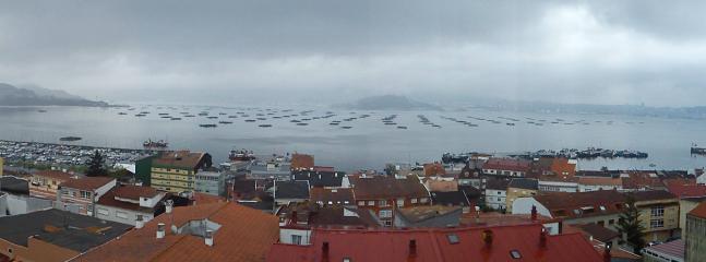 vistas con dia nublado desde la terraza