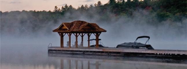 Muskokan dock in the mist
