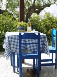 Breakfast, dine or just sit on the terrace surrounded by nothing but olive trees.