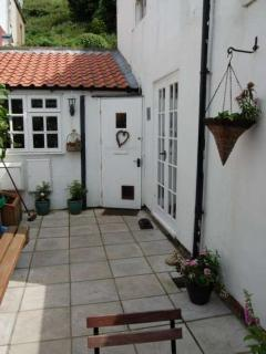 Entrance to the cottage looking from the private courtyard