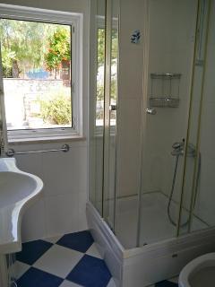 Shower in suite bathroom