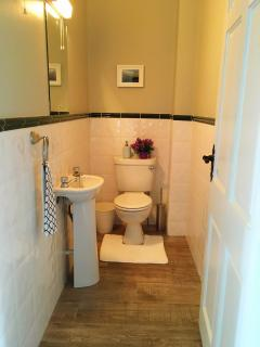Upstairs half bath