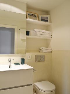 Cuarto de baño completo con ducha