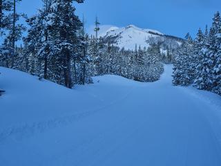 Ski run next to the house