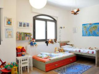 Children room with 2 single beds and 1 Sof double place can be added easily