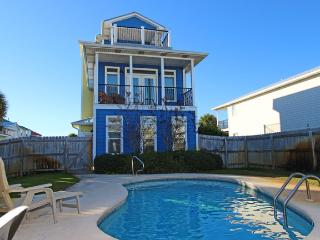 Large home with cabana house!! Private pool & short walk to the beach!!