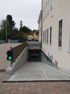 rampa d'accesso al garage sotterraneo