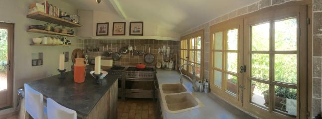 Bastide 1 Kitchen with 2 range cookers and 2 dishwashers,  American fridge and additional fridge