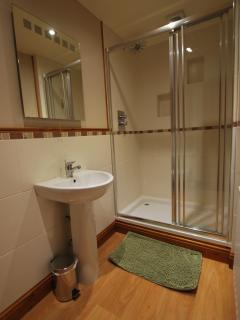 Shower room ensuit to medium bedroom this is an 800 x 1000 shower room, tiolet and sink