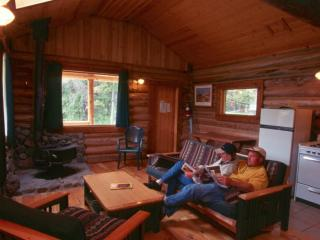 Deluxe Log Cabin #8 at Chaunigan Lake Lodge