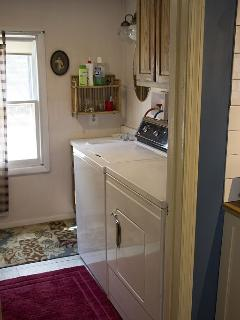 laundry room (also 2nd downstairs bathroom)