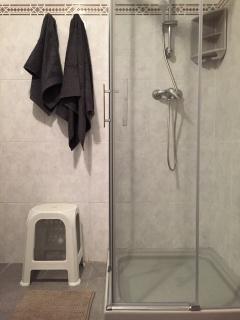 Detalle de la mampara de ducha