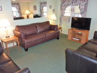 livingroom with 42' flat screen TV, free Wi-Fi and sofa-bed