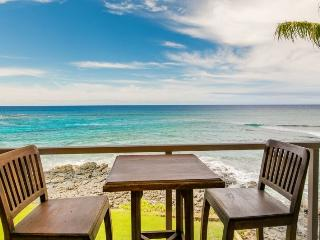 Kuhio Shores 319-Gorgeous 2bd ocean front condo with stunning ocean and sunset views, Poipu