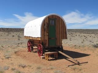 SHEEP WAGON GLAMPING ON NAVAJOLAND