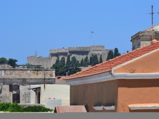 View from the apartment to the Palace of the  Grand Master,one of most sightseeings.