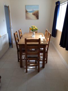 Dining Room seats six.  A highchair and / or boaster seat is available on request.