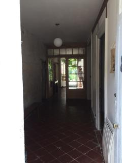 view into entrance hallway from front door