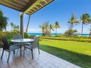 Kaha Lani Resort #123 Oceanfront, Walk to Beach, Sunrise Views, Washer/Dryer