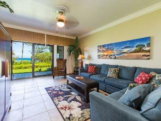 Kaha Lani Resort #123 Oceanfront, Steps to Beach, Enjoy Sunrise from Lanai, Lihue