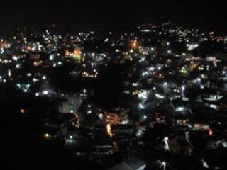 View of Solan Valley at night from Balcony.