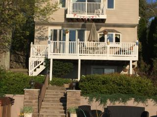 Three story, 4 bedroom house just steps away from the lake and hot tub