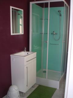 Salle de douche avec WC séparés