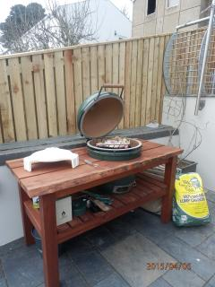 Our Big Green Egg for serious al fresco dining - lobsters, legs of lamb or a simple pizza?