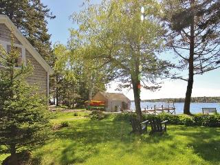 Enchanting, quintessential waterfront summer house-beach and wharf.