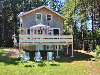 Private and peaceful, located on 3 private acres at the head of Seavey`s Cove.