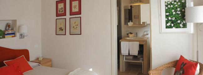 bedroom in the main villa, larger bedroom