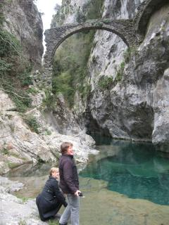 Nearby swimming gorge. You can swim under the bridge up the gorge