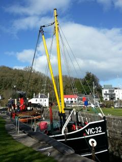 The Vic in Crinan harbour
