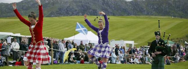 Highland Dancers competing at Scottish Highland Games. [Check for other Highland Games via 'SHGA']