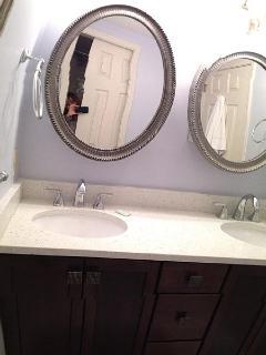 Brand new bathroom vanity with quartz countertop