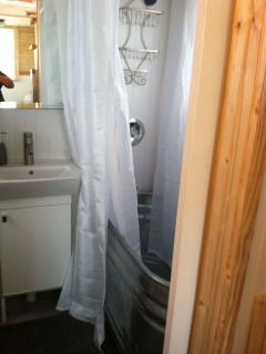 trough tub in bathroom