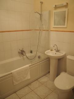 One of two bathrooms, the other one has shower cabin