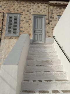 stairs to the terrace and first bedroom