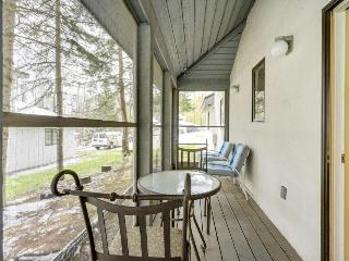 Updated condo close to 2 ski resorts with a shared pool, hot tub, gym, and more!