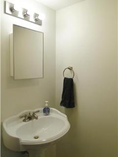 Nicely appointed half bath on 1st floor.  Bright, New & Clean!!!