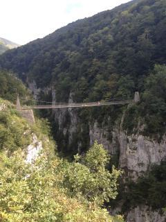 Suspended bridge, the Pyrenees