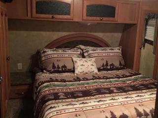 River Mist 42 ft pet friendly RV on Tallulah River, Tallulah Falls