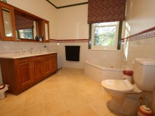 Spa Ensuite is the size of a bedroom with separate spa and shower.
