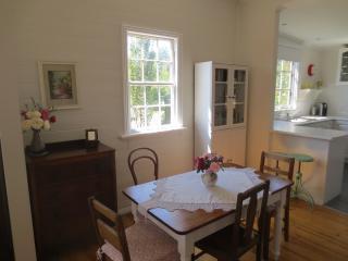 Open plan dining, kitchen, living