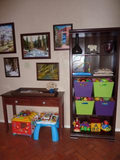 Plenty of toys and puzzles for children.